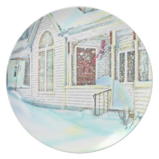 Snowbound in Massachusetts Collector's Plate
