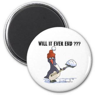 Snowbound Penguin 2 Inch Round Magnet