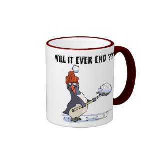 Snowbound Penguin Ringer Mug
