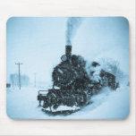 Snowbound Train Mouse Pad