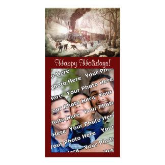 Snowbound Train Photocard Card