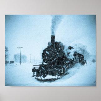 Snowbound Train Poster