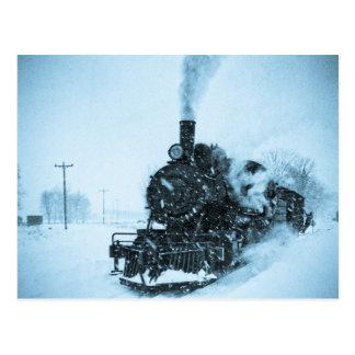 Snowbound Train Vintage Postcard