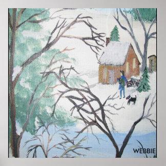 snowboundBYwebbieMUZ, WEBBIE Print
