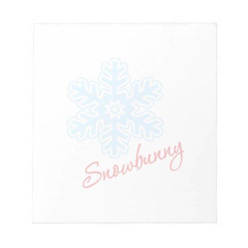 Snowbunny Memo Notepads