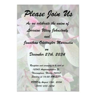 """snowbush colorful plant 5"""" x 7"""" invitation card"""