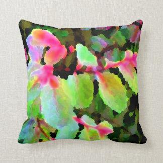 snowbush colorful plant abstract pillow
