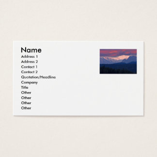 Snowcapped Mountains Business Card