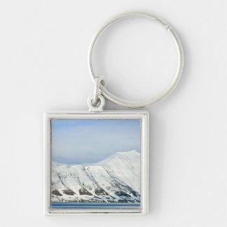 Snowcapped peaks Woodfjord Svalbard 2 Keychain