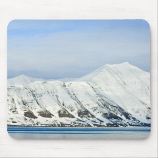 Snowcapped peaks Woodfjord Svalbard 2 Mouse Pad