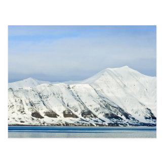 Snowcapped peaks Woodfjord Svalbard 2 Postcard