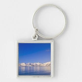 Snowcapped peaks Woodfjord Svalbard Keychain