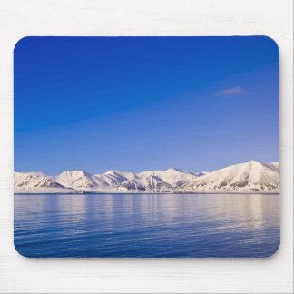 Snowcapped peaks Woodfjord Svalbard Mouse Pad