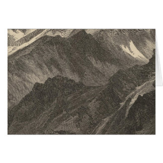 Snowclad mountains greeting card