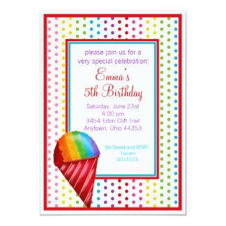 Snowcone and Polka Dots Birthday Invitations