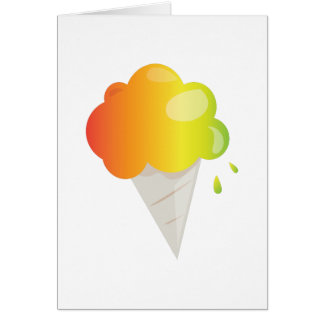 Snowcone Greeting Card