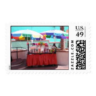 SnowCones At The Beach Postage Stamp