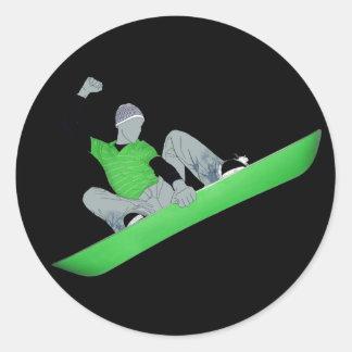 snowcore. classic round sticker