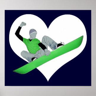 snowcore love posters