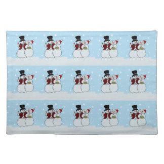 Snowcouple Cloth Placemat