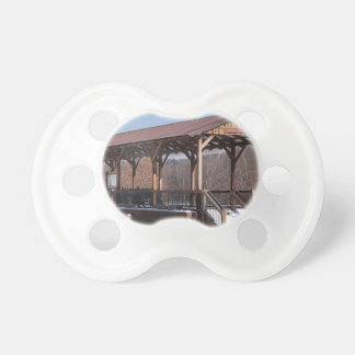 Snowcovered Hawley Train Station Pacifier