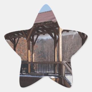 Snowcovered Hawley Train Station Star Sticker
