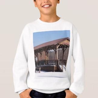Snowcovered Hawley Train Station Sweatshirt