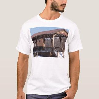 Snowcovered Hawley Train Station T-Shirt