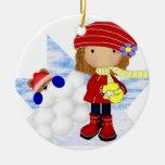 Snowday Girl Ornament
