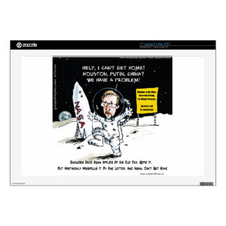 """Snowden On The Moon Funny Skin For 17"""" Laptop"""