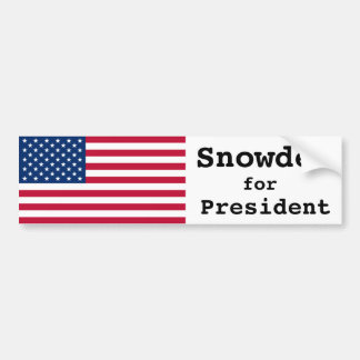 Snowden para el presidente pegatina para el parach pegatina para auto