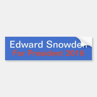 Snowden para el presidente pegatina para el pegatina para auto
