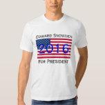 Snowden para el Whistleblower 2016 del presidente Playera