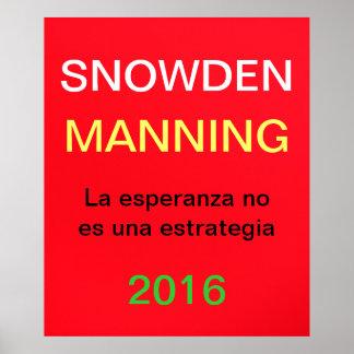 Snowden que sirve 2016 - La Esperanza Posters