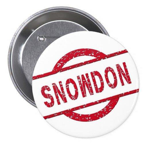 Snowden Supporter 3 Inch Round Button