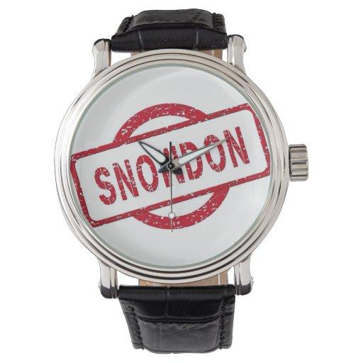 Snowden Supporter Wristwatch