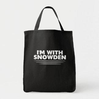 Snowden Tshirt Tote Bags