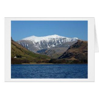 Snowdon de Llyn Nantlle Uchaf Felicitacion