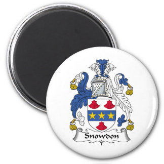 Snowdon Family Crest 2 Inch Round Magnet