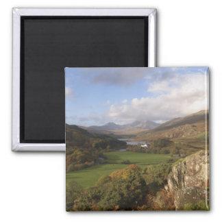 Snowdon from Capel Curig, Gwynedd, Wales (RF) 2 Inch Square Magnet