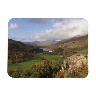 Snowdon from Capel Curig, Gwynedd, Wales (RF) Rectangular Photo Magnet