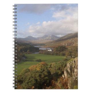 Snowdon from Capel Curig, Gwynedd, Wales (RF) Spiral Notebook