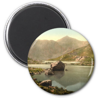 Snowdon from Llyn Llydaw, Gwynedd, Wales 2 Inch Round Magnet
