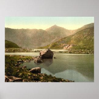 Snowdon from Llyn Llydaw, Gwynedd, Wales Print