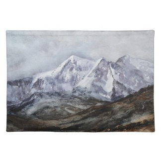 Snowdon Horseshoe in Winter.JPG Cloth Placemat