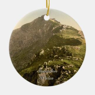 Snowdon - la milla pasada Gwynedd País de Gales Ornamentos Para Reyes Magos