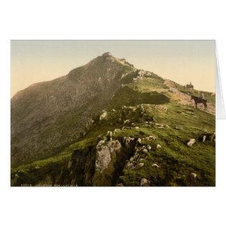 Snowdon - la milla pasada Gwynedd País de Gales Tarjeton