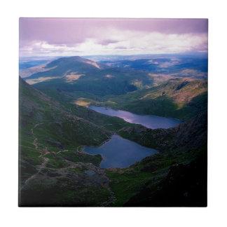 Snowdon País de Gales Azulejo Ceramica