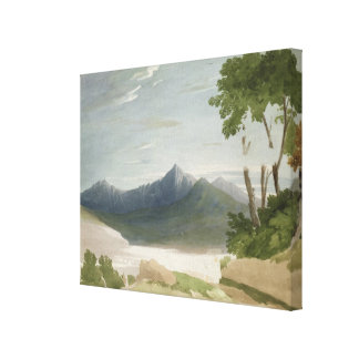 Snowdon (w/c with pencil) canvas print