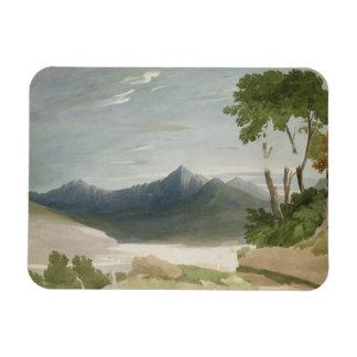 Snowdon (w/c with pencil) rectangular photo magnet